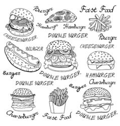 Sketchy fast food vector