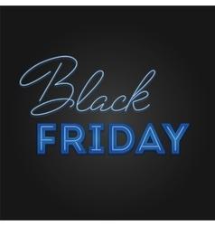 Black friday sale retro light frame neon design vector