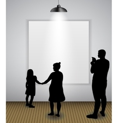 Silhouette of people in background with lighting vector