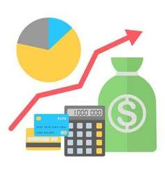In flat style finance growing concept vector