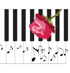Abstract piano music background vector