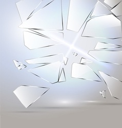 Broken glass desing vector