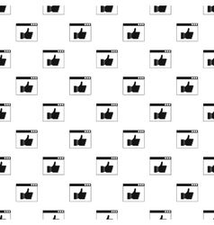 Computer monitor with like button pattern vector image