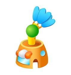 icon badminton vector image