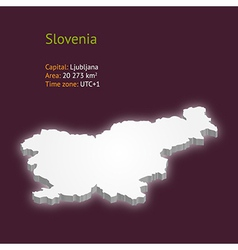 3d map of slovenia vector
