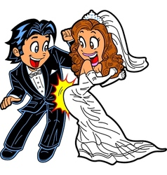 Wedding dance couple vector