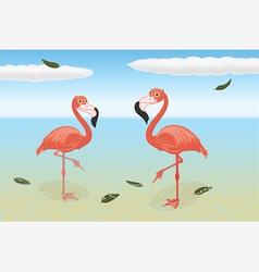 Stoic flamingos vector image