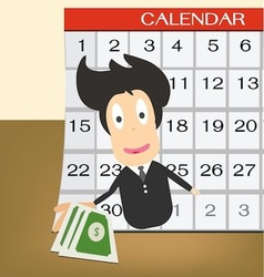 Pay day on calendar idea concept vector