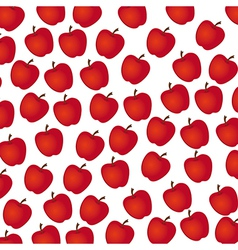 apple pattern on white background vector image