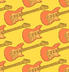 Sketch electric guitar musical instrument vector