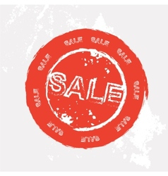 Red sale rubber stamp in format vector