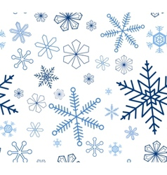 Snowflake seamless background vector