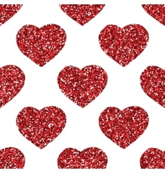Glitter heart seamless pattern vector