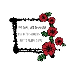 Memorial day card with poppies vector