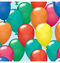 abstract balloons background vector image vector image