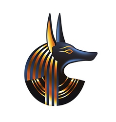 Ancient egyptian god Anubis isolated vector image