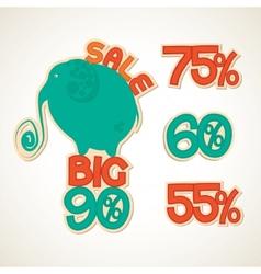 Badges big discounts vector image