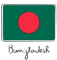 Bangladesh flag doodle vector image vector image