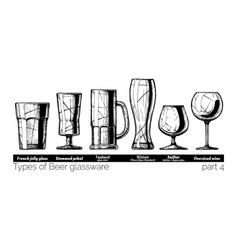 Beer glassware vector