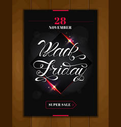 black friday sale design poster black friday vector image