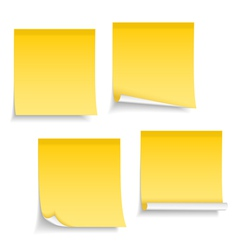 Blank Sticky Notes vector image
