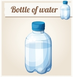 Bottle of water Detailed icon vector image vector image