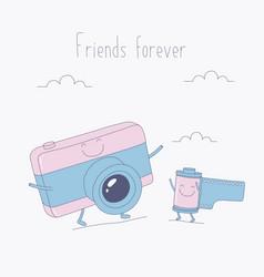 Cameras funny vector