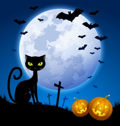 Creepy Halloween scene vector image vector image