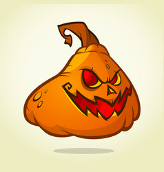 cute pumpkin head cartoon halloween vector image