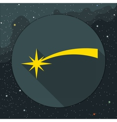 Digital yellow comet falling icon vector image