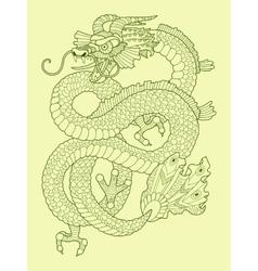 Dragon color drawing vector