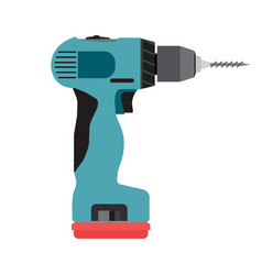 Drill icon cordless electric driver power tool vector