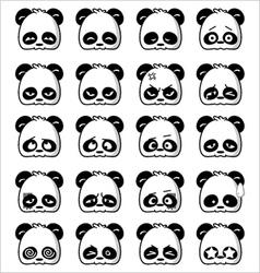 Emoticon panda vector
