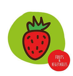 fruits cute design vector image