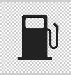 Fuel gas station icon car petrol pump flat vector