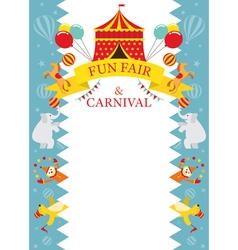 Fun fair carnival circus frame vector