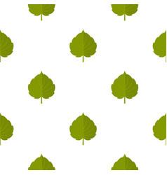 green alder leaf pattern seamless vector image vector image