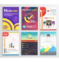 Infographic Business Brochures Banners Set vector image vector image
