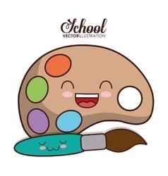 Kawaii cartoon icon school design graphic vector