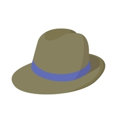 Man hat icon cartoon style vector