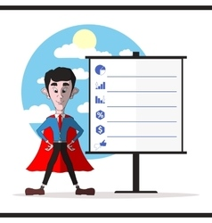 Successful businessman in a red cloak vector