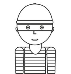 Thief avatar isolated icon vector