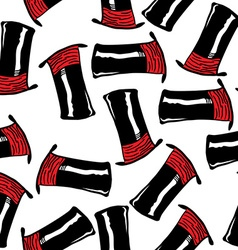 top hat pattern vector image