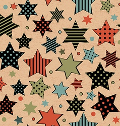 Vintage seamless with stars vector image vector image