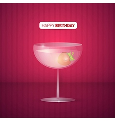 Violet Happy Birthday Background With Drink vector image vector image