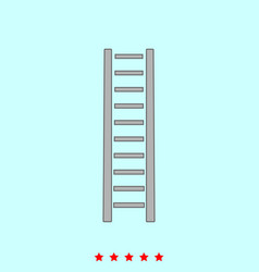 wooden step ladder it is icon vector image vector image