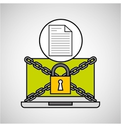 Document security internet technology vector