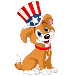 Fourth of july puppy vector