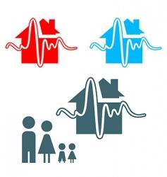 earthquake insurance icon vector image