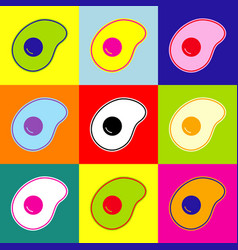omelette flat designed vector image